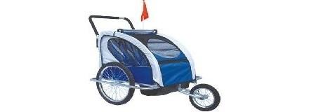 Remolque / Jogger Ciclotek 2 niños azul – 112€